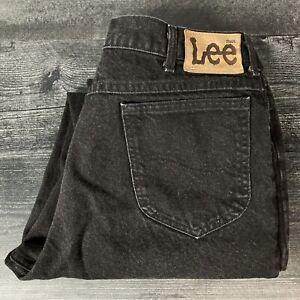 Vintage 1990s Lee Made in USA Black Denim Jeans size 36 x 30 Men's High Quality