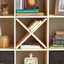 Cube Storage Shelf, Solid Black Cube Organizer Wood Composite Indoor Cube Units