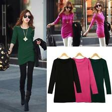 Waist Length Polyester Long Sleeve No T-Shirts for Women