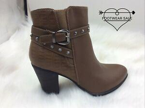 Footwear Sale Women's Flat Anckle Boots  Block Heel Buckle Studs Shoes Size Zip