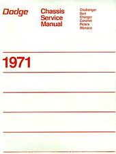 1971 CHALLENGER/CHARGER/CORONET/BODY/SHOP MANUAL
