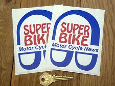 Motor Cycle News Goovy SUPERBIKE classic bike STICKERS