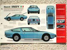 1971 / 1972 / 1973 MASERATI INDY IMP Brochure