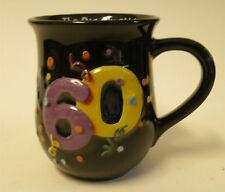 The Big Six ohh 60 Sixty Birthday Party Mug Black Purple Yellow Sixtieth