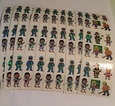 Sandylion Working peoples Stickers lot of 5 SHEETS 2 X 6 New
