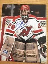 New Jersey Devils Bob Sauve signed 8x10 W/COA pose 2