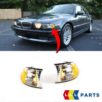 NEW BMW GENUINE E38 7 SERIES FRONT TURN SIGNAL INDICATORS CLEAR PAIR SET NS + OS