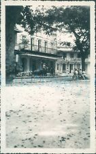 More details for 1940s st johns worker photo, guadeloupe balconied buildings cow cart 5.25*3.25
