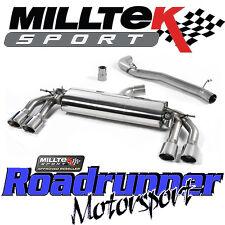 "Milltek Audi TTS MK3 2.0TFSi Quattro Exhaust System 3"" Cat Back Non Res Louder"