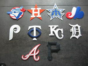Vintage Baseball TEAMS 10 Heat Press Patches Major League Baseball Free Shipping