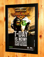 1999 Command & Conquer Tiberian Sun Rare Small Poster / Vintage Ad Page Framed