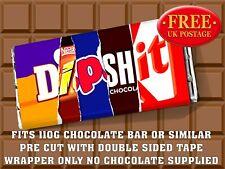 DIPSHIT Chocolate Bar Wrapper Novelty Joke Funny Rude Gift Birthday Christma