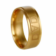 Band Ring Gold Fashion Gift Size 11 Woman & Man Stainless Steel Titanium Dad