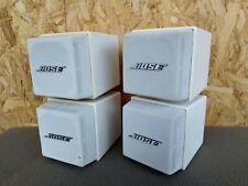 2 BOSE AM-5 Doppelcube * Lautsprecher weiß Boxen Cube f Acoustimass Lifestyle