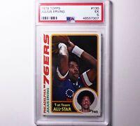 1978 Topps JULIUS ERVING #130 EX PSA 5 Philadelphia 76ers Basketball Card