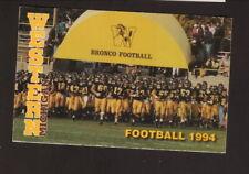 Western Michigan Broncos--1994 Football Pocket Schedule--WKMI