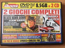 DVD WIN MAGAZINE giochi per PC STARSKY & HUTCH  BLACK HAWK DOWN ..