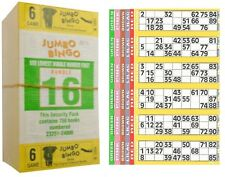 1500 BOOKS 6 PAGE GAME STRIPS OF 6 TV JUMBO BINGO TICKET SHEET BIG BOLD NUMBERS