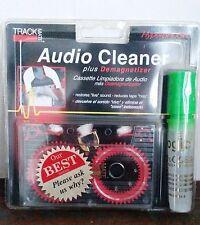Audio Cassette Cleaner plusTape Deck Demagnetizer Cleaning Solution - Green Top