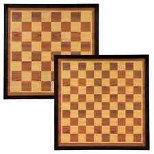 Abbey Game Dam- en Schaakbord Hout Bruin en Beige Dambord Bordspel Denkspel