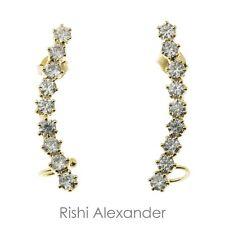 18k Gold Filled CZ Crawler Earrings