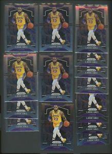 Lot of (15) 2019-20 Panini Prizm #129 LeBron James Los Angeles Lakers