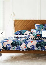 Cassie Byrnes for Anthropologie Queen Bedspread Reversible Melbourne Quilt