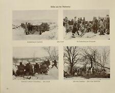 1916 WWI WW1 Estampado Alemán Revista Bukowina Carga Pesado Armas ~ Refugiados