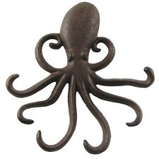 Wall Mount Swimming Octopus Tentacles Key Hook 6 Tentacle Hooks Beach Home Decor