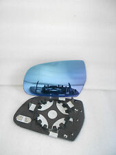 L+R New Side Mirror Glass W/Holder Heated BLUE TINTED For Audi A4 A5 S4 S5 SET