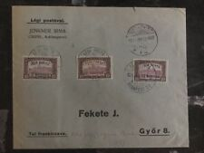 1921 Budapest Hungary Commercial Cover To Gyor