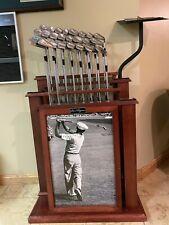 RARE Collectors Ben Hogan Display Stand w 3 sets of Hogan Irons & two 1-Irons