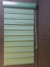 Vintage HUNTER DOUGLAS VIGNETTE MODERN ROMAN SHADE WINDOW SHADING GREEN CURTAIN