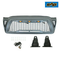 EAG Fit 2005-2011 Toyota Tacoma Grille Grill Packaged Gray W/ Amber LED Lights