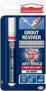 UniBond Anti-Mould Grout Reviver Restorer Pen - 7ml - Ice White