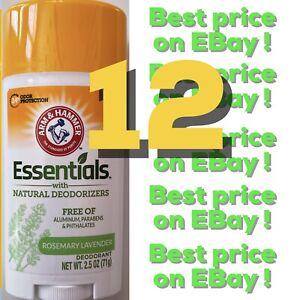12 Arm & Hammer Essentials Fresh Natural Deodorant Aluminum Paraben Free lot WOW