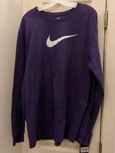 NWT Nike Swoosh Logo Men's 2XL Orchid Purple Long Sleeve T-shirt