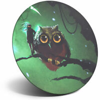 Awesome Fridge Magnet - Abstract Mysterious Owl Fantasy Art Cool Gift #14111