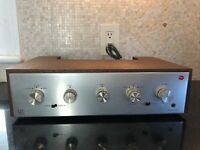 Mint Acoustic Research AR AU Integrated Amplifier Wood Case Rare Headphone Jack