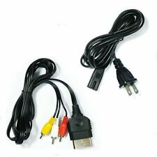 AV Cable AC Power Supply Adapter Cord Set For Xbox Original Brand New 0Z