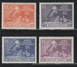 New Hebrides(FR)   1949   Sc # 79-82   UPU   MNH   (2044)