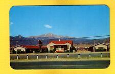 Colorado Springs,CO Colorado, Panorama Lodge, Pikes Peak in background
