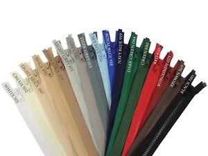 YKK Vislon Zip Size #5 Open End Chunky Plastic Zipper Single Slider 30 - 80cm UK