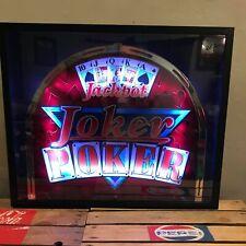 Máquina de frutas Joker Poker Vidrio LED Lightbox perfecto para Cueva de hombre