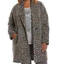 695c7b1dc55 Lane Bryant sexy faux leopard print button up lighter weight coat jacket 26  28