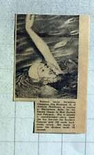 1949 Rita Markland, 16, Ashford Middlesex Training Marylebone Baths