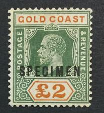 MOMEN: GOLD COAST SG #102s 1921-4 SPECIMEN MINT OG H LOT #191541-389
