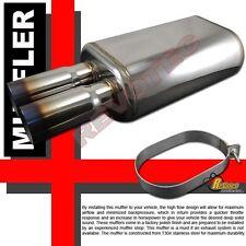 "Universal Dual DTM Burnt Tip Exhaust Muffler 2.5"" Inlet T304 Stainless Steel"