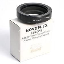 Novoflex LEICONT-Adapter Contax/Yashica-Optik auf M39 * Balgen/Bellows Adapter