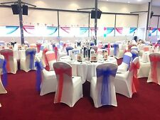 100 Chair Covers And Sashes - Posted - HIRE - Wedding - Event - Decoration
